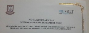 INTERNATIONAL WOMEN UNIVERSITY MELAKSANAKAN MoA DENGAN PREINEXUS_E